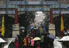 Festival de printemps 2015 dans la neige Images stock