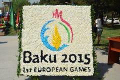 Festival de printemps des fleurs, festival d'école dans la ville de Bakou Photos stock