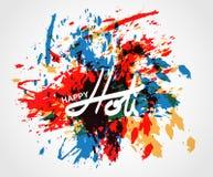 Festival de printemps de Holi de couleurs saluant des éléments pour le design de carte Photo stock