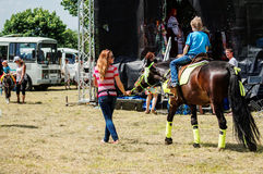 Festival de Pushkin dans le village de Polotnyany Zavod, région de Kaluga, Russie le 6 juin 2016 Image stock