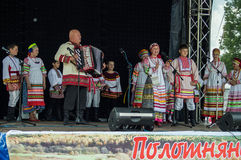 Festival de Pushkin dans le village de Polotnyany Zavod, région de Kaluga, Russie le 6 juin 2016 Photographie stock libre de droits