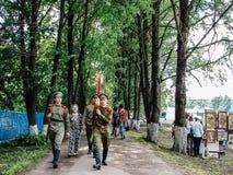 Festival de Pushkin na vila de Polotnyany Zavod, região de Kaluga, Rússia 6 de junho de 2016 Imagem de Stock