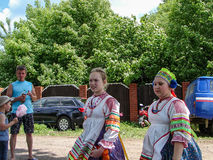 Festival de Pushkin na vila de Polotnyany Zavod, região de Kaluga, Rússia 6 de junho de 2016 Imagem de Stock Royalty Free
