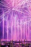 Festival de rédempteur des feux d'artifice Image stock