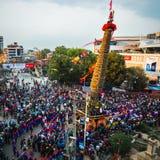 Festival de RATO Machindranath dans Patan, Népal Photos libres de droits