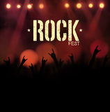 Festival de roche Photographie stock libre de droits