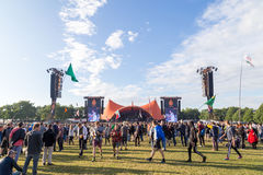 Festival 2016 de Roskilde - concerto alaranjado da fase Fotos de Stock