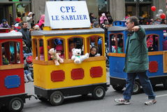 Festival de santa clous en Montreal imágenes de archivo libres de regalías