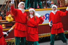 Festival de santa clous en Montreal fotos de archivo