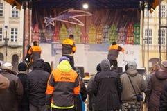 Festival de sculpture en glace à Poznan Photographie stock