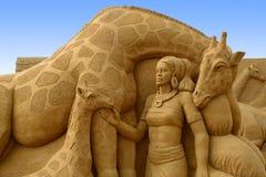 Festival de sculpture en sable Photographie stock