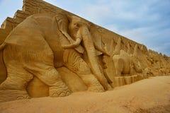 Festival de sculpture en sable Photos stock