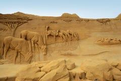 Festival de sculpture en sable Photos libres de droits