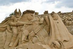 Festival de sculpture en sable dans Lappeenranta Image stock