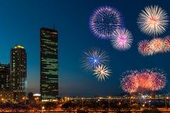 Festival de Seoul Fieworks imagem de stock