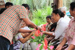 Festival de Songkran Images libres de droits