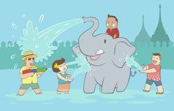 Festival de Songkran illustration stock
