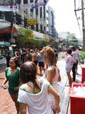 Festival de Songkran, Bangkok, Tailandia. Fotografía de archivo