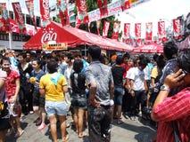 Festival de Songkran, Banguecoque, Tailândia. Imagens de Stock Royalty Free