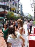 Festival de Songkran, Banguecoque, Tailândia. Fotografia de Stock