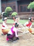 Festival de Songkran en el chiangmai, Tailandia Foto de archivo libre de regalías