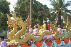 Festival de Songkran en el estilo de Tailandés-lunes Imágenes de archivo libres de regalías