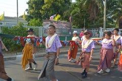 Festival de Songkran en el estilo de Tailandés-lunes Foto de archivo