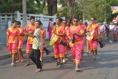 Festival de Songkran en el estilo de Tailandés-lunes Fotografía de archivo