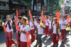 Festival de Songkran en el estilo de Tailandés-lunes Fotos de archivo libres de regalías