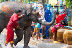 Festival de Songkran en Tailandia Foto de archivo
