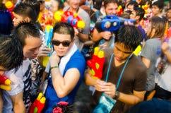 Festival de Songkran en Thaïlande Photographie stock libre de droits