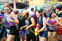 Festival de Songkran en Thaïlande Photos stock