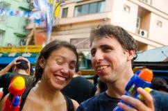 Festival de Songkran en Thaïlande Photo libre de droits