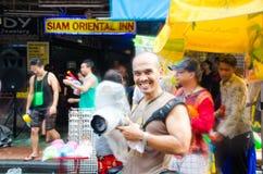 Festival de Songkran en Thaïlande Images libres de droits