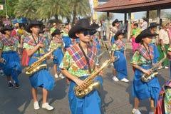 Festival de Songkran no estilo de Tailandês-segunda-feira Imagem de Stock