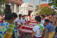 Festival de Songkran no estilo de Tailandês-segunda-feira Fotos de Stock