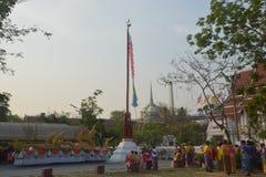 Festival de Songkran no estilo de Tailandês-segunda-feira Fotografia de Stock