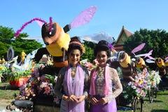 Festival de Songkran no estilo de Tailandês-segunda-feira Imagens de Stock