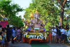 Festival de Songkran no estilo de Tailandês-segunda-feira Foto de Stock Royalty Free