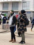 Festival de St Patrick, Moscou Images libres de droits