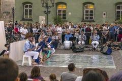 Festival de théâtre de rue à Cracovie Image libre de droits