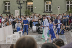 Festival de théâtre de rue à Cracovie Photo stock