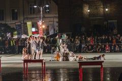 Festival de théâtre de rue à Cracovie Images libres de droits