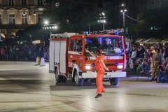 Festival de théâtre de rue à Cracovie Photographie stock libre de droits