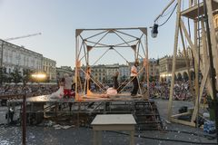 Festival de théâtre de rue à Cracovie 2018 Photos libres de droits