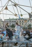 Festival de théâtre de rue à Cracovie 2018 Photo stock