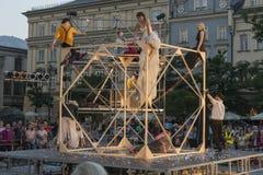 Festival de théâtre de rue à Cracovie 2018 Images libres de droits