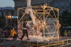 Festival de théâtre de rue à Cracovie 2018 Image libre de droits