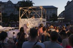 Festival de théâtre de rue à Cracovie 2018 Photo libre de droits