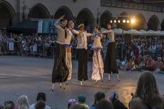 Festival de théâtre de rue à Cracovie 2018 Image stock